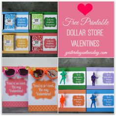 Free Printable Dollar Store Valentines Day Cards