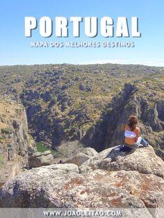 Mapa dos Melhores Destinos de Portugal
