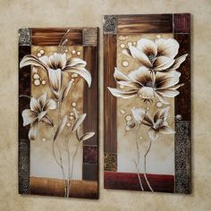Petals of Spring Canvas Wall Art Set Multi Earth Set of Two Canvas Artwork, Canvas Wall Art, Tree Artwork, Interior Paint Colors, Interior Painting, Interior Design, Metal Tree Wall Art, Floral Wall Art, Painting Frames