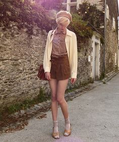 Zara Blouse, Miss Selfridge Suede Shorts, The Rest Is Second Hand