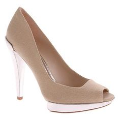 SALE - Vince Camuto Narla Stiletto Heels Womens Beige Canvas - Was $125.00 - SAVE $52.00. BUY Now - ONLY $72.95.