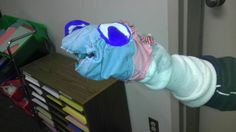 Sock puppet created by sixth grader