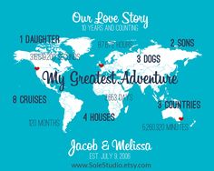 Let us tell your story with this awesome Customized Map Design!  #solestudio #love #lovestory #adventures #adorable #together #lovehim #giftforher #homedecor #celebration #anniversary #weddinggift #handcrafted #giftideas #couples #prints #creativestudio