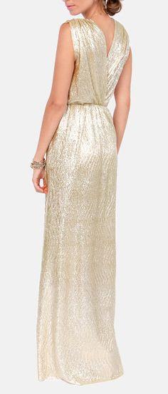 shimmer maxi dress