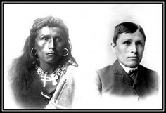 Navajo, Tom Torlino, upon arrival at the Carlisle Indian School in 1887 and how he looked 3 years later.
