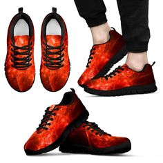 """Sneakers""""Fire"""" homme Legging, Sneakers, Hiking Boots, Creations, Fire, Collection, Fashion, Men, Purse"""