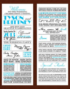 Wedding Program Digital Download By InnovativeGoodies On Etsy Interesting Change Blue To Bridesmaids Colors