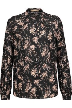 Shop on-sale Michael Kors Collection Elderflower floral-print silk-crepe shirt. Browse other discount designer Tops & more on The Most Fashionable Fashion Outlet, THE OUTNET.COM