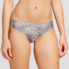 Women's Seamless Bonded Micro Thong Heather Gray XS