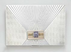 A RETRO SILVER, GOLD AND SAPPHIRE VANITY CASE, BY LACLOCHE FRERES