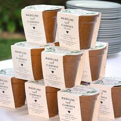 Herb Planting Kit Wedding Favors made the perfect take home gift to celebrate how love grows at a 70th Anniversary Party.
