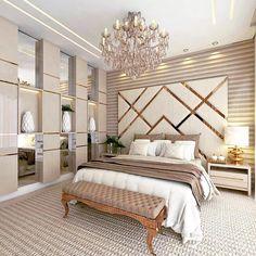 Trendy Home Luxury Bedroom Beds Room Wall Decor, Home Decor Bedroom, Modern Bedroom, Bedroom Lamps, Master Bedroom, Bedroom Ideas, Diy Bedroom, 1920s Bedroom, Contemporary Bedroom