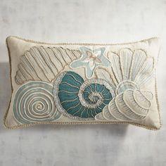 Seashore Seashells Lumbar Pillow | Pier 1 Imports