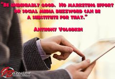 """""""Be undeniably good.  No marketing effort or social media buzzword can be a substitute for that."""" - Anthony Volodkin"""