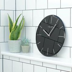 London clock Keukenklok - Glass - Zwart London Clock, Glass, Designs, Home Decor, Products, Home, Dekoration, Color Black, Decoration Home