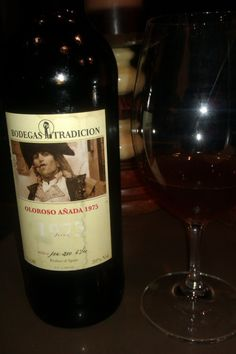 Bodegas Tradición Oloroso Añada 1975. A vintage sherry wine, very uncommon. Only 210 bottles from this batch. Simply spectacular, with an everlasting finish. One of this wines you should drink at least once in your life.