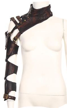 Sleeve armour. (Not very good as armour in my opinion -- too many places to get cut -- but it looks cool anyway.) :-)