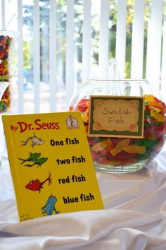 Integrating the children's book theme and sweet treats was a breeze! Children's book theme Candy buffet baby shower.