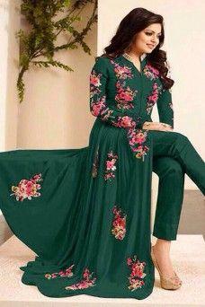 Drashti Dhami Green Bollywood Designer Embroidered Party Wear Pant Style Anarkali #suits #salwarsuit #salwarkammez #salwar #shalwar #lehenga #choli #lehengacholi #saree #sari #patialasuit #punjabisuit #plazzosuit #pakistanisuit #straightcut #anarkali #casualwear #indiandesigner #designer #india #Bangkok #uk #usa #Canada #Germany #bride #bridal #pantstylesuit #wedding #partywear #traditional #printed #festive #gebastore #modelsuit #ethnicwear #gown #churidar