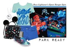 """WDW Buzz Lightyear's Space Ranger Spin: Park Ready"" by laniocracy ❤ liked on Polyvore featuring Belk Silverworks, Disney, rag & bone/JEAN, Mark Cross, Vans, WDW and parkready"