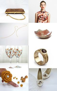 Brown and gold by maya ben cohen on Etsy--Pinned with TreasuryPin.com