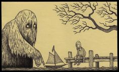 15.....Artist Don Kenn opens a window to a different world when he draws monsters on post it notes.