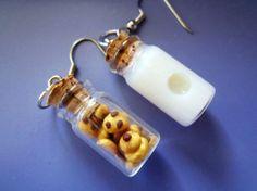 Milk and Cookie Earrings - Aretes leche y galletas