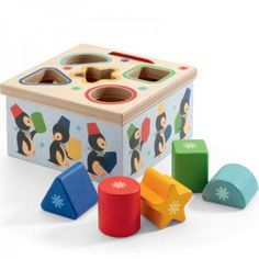 Djeco Geo Junzo Wooden Shape Sorter 18m+ - £14.99 - A great range of Djeco Geo Junzo Wooden Shape Sorter 18M - FREE Delivery over £25!