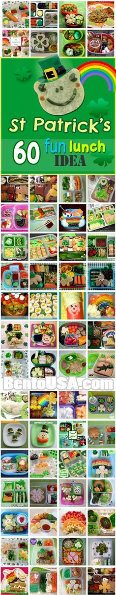 Bento School Lunch - Fun Food for  #stpatricksday #partytable