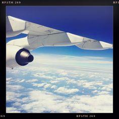 Above the sky. Zurich - Oslo. Swiss.