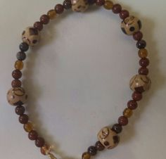Wood and seed beads