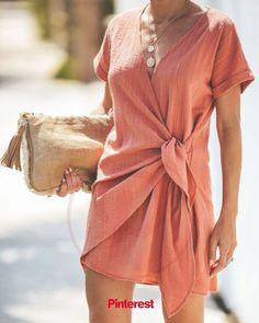 Kauai Crush Woven Wrap Dress - Peach - Kauai Crush Woven Wrap Dress – Peach Source by mimiamira - in 2020 Mode Outfits, Fashion Outfits, Womens Fashion, Outfits 2016, Modest Fashion, Dress Fashion, Girl Outfits, Fashion Tips, Looks Street Style