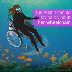 Sue Austin Scuba Dives In A Wheelchair Discovery Channel Shows, The Guardian, Scuba Diving, Underwater, Wheelchairs, Disability, App, Under The Water, Diving