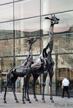 How to Recycle: Metal Scrap Animal Sculptures