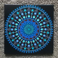 Beautiful 12x12 Dot Mandala Acrylic Painting | Etsy