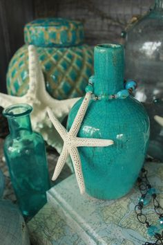 turquoise jewelry House of Turquoise - The Southern Grind Coffee House Orange Beach, Al Vert Turquoise, House Of Turquoise, Aqua, Turquoise Party, Beach Cottage Style, Beach House Decor, Shades Of Turquoise, Shades Of Blue, Vibeke Design
