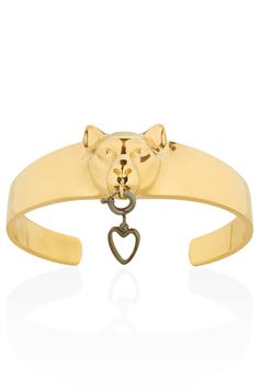 Gold Panther Cuff By Jordan Askill for Topshop