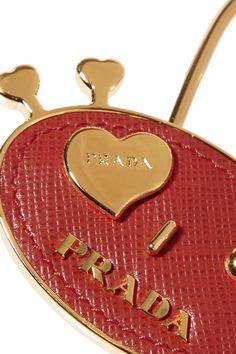 Prada | Embellished textured-leather keychain | NET-A-PORTER.COM