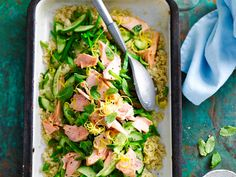 Enjoy this deliciously fresh salmon and quinoa salad for lunch or dinner any night of the week.