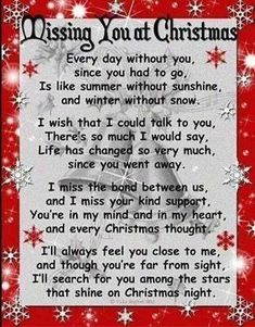 Missing you at Christmas love quote gone holiday miss need christmas cheer giving
