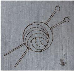 Pelote & aiguilles redwork - Le blog de lacocotteacarreaux Free Machine Embroidery Designs, Stitches, Cross Stitch, Quilting, Crochet, Blog, Needlepoint, Free Machine Embroidery, Happy Monday