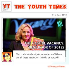 #JK #Rowling finally left the Harry Potter legacy behind and moved on to adult fiction with The Casual #Vacancy. Did her latest #book succeed in bringing back the #magic? Or are you still under the spell of #Harry #Potter? Leave us a comment and tell us why! #theyouthtimes #books #read #2012 #comic #opinion #best #hermoine #daniel #radcliffe #emma #watson