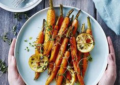 Timianristede gulerødder med citron og honning