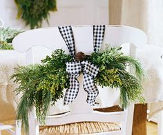black & white checks at Christmas? I love white & silver especially at Christmas .... Adding to the decor that is already there... Not adding colors like red & green to compete w/another color scheme...