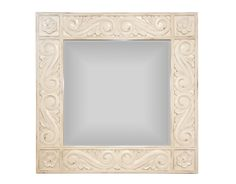The Sarasota Mirror-Square by Alden Parkes | Following the graceful designs of the Sarasota bench, these mirrors available in three sizes, are made of solid hand-carved mahogany with beveled glass mirrors.
