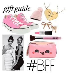 """Gift Guide: Besties"" by sarah-duenez ❤ liked on Polyvore featuring Balmain, Nashelle, Anya Hindmarch, Betsey Johnson, MAC Cosmetics, Converse and Yestadt Millinery"
