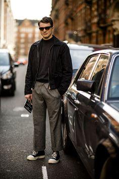 Street style men's: London Fashion Week Women's AW17 | British GQ