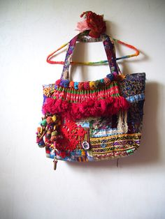 Items similar to Bohemian Vintage Patchwork Tote bag on Etsy