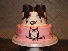 Owl birthday cake.