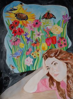 My self-portrait is in the Jerry's Artarama #self-portrait contest. I am so excited! #LillianConnelly #art